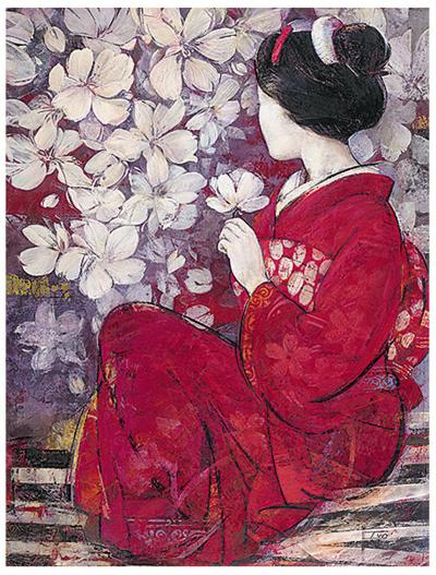 Geisha Reflection-Ivo-Art Print