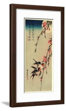 Gekka Momo Ni Tsubakura--Framed Giclee Print