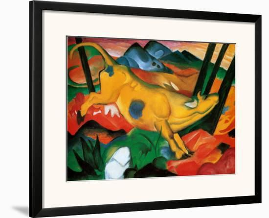 Gelbe Kuh, c.1911-Franz Marc-Framed Art Print