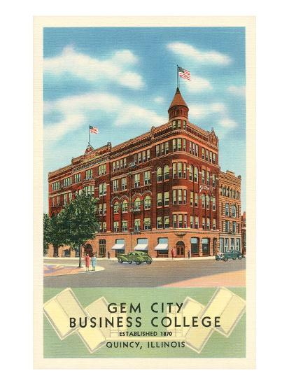 Gem City Business College, Quincy, Illinois--Art Print