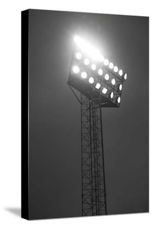 Stadium Spotlights Lit At Night