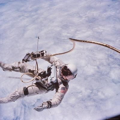Gemini 4 Astronaut Edward H. White II Floating in Space During First American Spacewalk-James A. Mcdivitt-Photographic Print