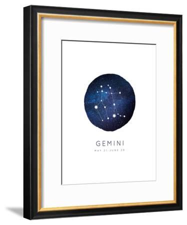 Gemini Zodiac Constellation-Kindred Sol Collective-Framed Art Print