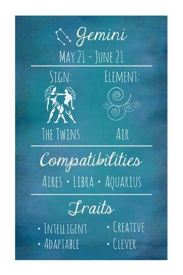 Gemini Zodiac Sign-Veruca Salt-Art Print