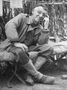 Gen. Joseph Stilwell at Headquarters During Burma Campaign