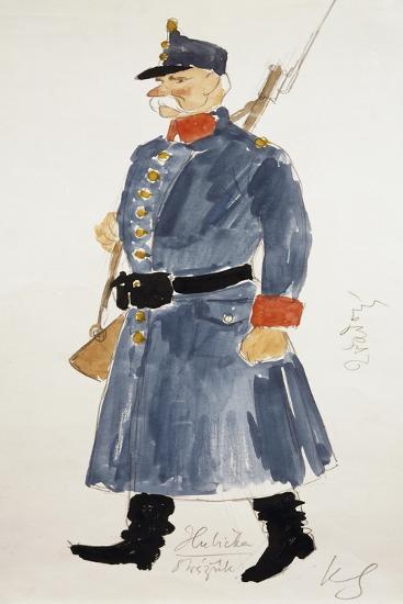 Gendarme, Costume for Kiss, Opera-Bedrich Smetana-Giclee Print