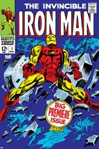 The Invincible Iron Man No.1 Cover: Iron Man by Gene Colan