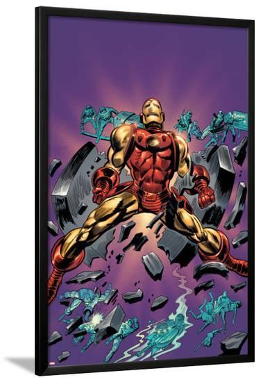 Gene Colan Tribute Book Cover: Iron Man-Matt Milla-Lamina Framed Poster
