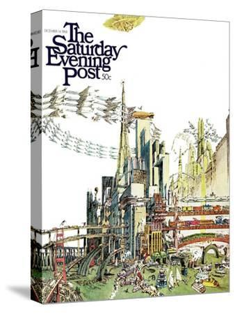 """""""Day Everything Stops,"""" Saturday Evening Post Cover, December 14, 1968"""