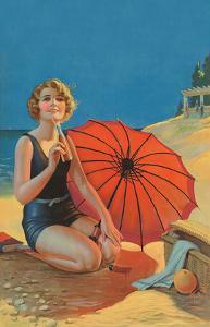 Inviting, Pin Up Girl c.1925 by Gene Pressler