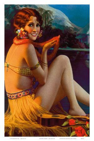 Starlight Wahine, Hawaiian Pin-up Girl, c.1920s