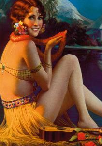 Starlight Wahine, Hawaiian Pin-up Girl, c.1920s by Gene Pressler