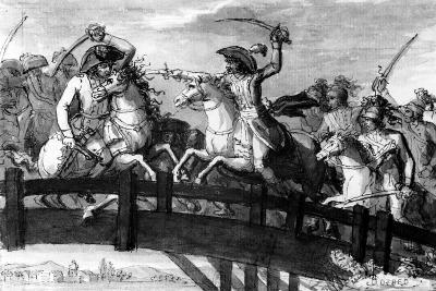 General Alexandre Dumas, the 'Horatius Cocles of the Tyrol'. Killing Single-Handedly Three…--Giclee Print