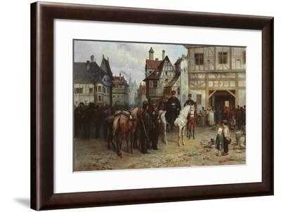 General Blücher with the Cossacks in Bautzen, 1885-Gottfried Willewalde-Framed Giclee Print