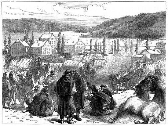 General Bourbaki's Defeated French Army in Switzerland, February 1871--Giclee Print