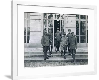 General Cadorna with Officers of Italian Delegation after Meeting--Framed Giclee Print
