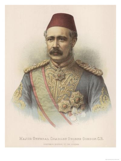 General Charles Gordon British Military Governor General of the Sudan--Giclee Print