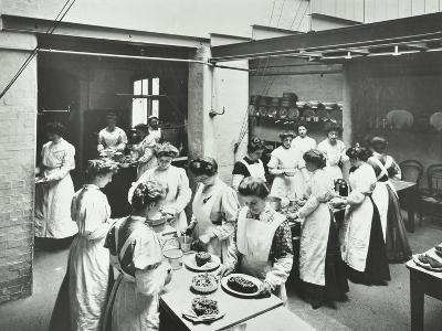General Cookery Class, National Training School of Cookery, London, 1907--Photographic Print