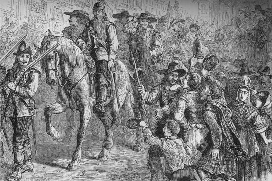 'General Dalzell Entering Edinburgh', July 1666, (c1880)-Unknown-Giclee Print