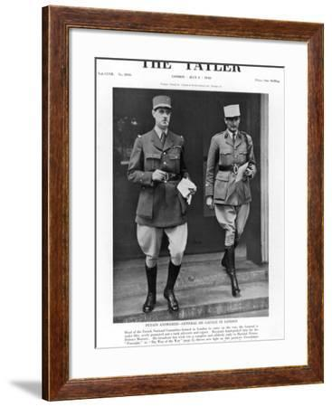 General De Gaulle in London--Framed Photographic Print