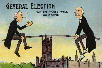 General Election. Which Party Will Go Down?--Giclee Print