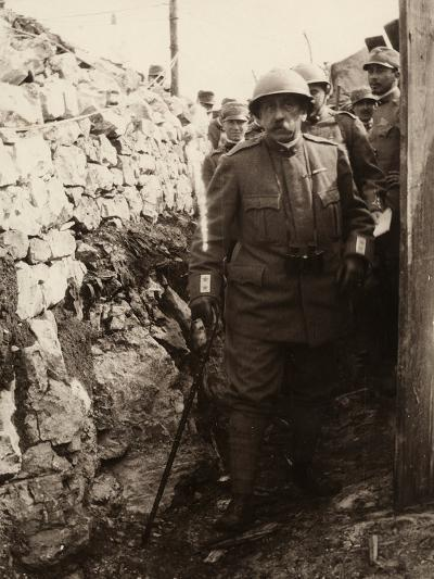 General Elia Inside a Trench with a Group of Soldiers. the Photo Was Taken May 1916-Ugo Ojetti-Photographic Print