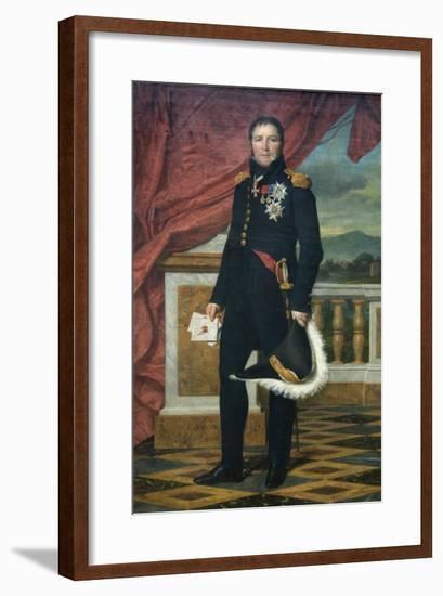 General Étienne-Maurice Gérard (1773–1852), Marshal of France-Jacques-Louis David-Framed Art Print