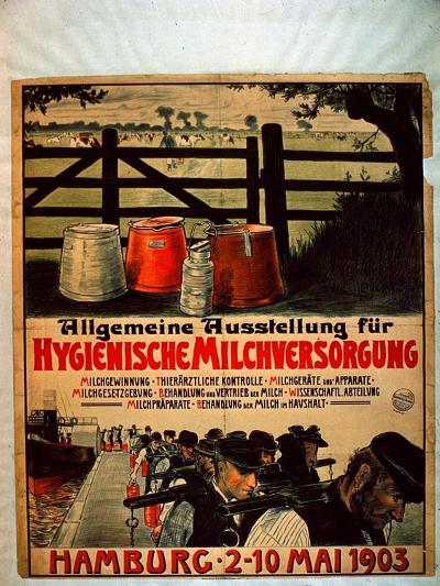 General Exhibition for Sanitary Milk Supply, 1903-German School-Giclee Print