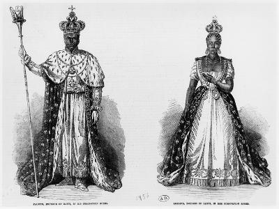 General Faustin Soulouque as Emperor of Haiti, and Adelina as Empress of Haiti, 1856--Giclee Print