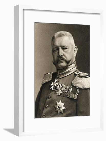 General Field Marshal Von Hindenburg, 1923-Albert Meyer-Framed Giclee Print