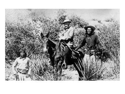 General George Crook on a Mule, with Two Apache in Arizona, 1882-American Photographer-Giclee Print