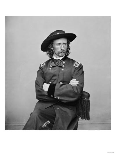 General George Custer Photograph No.1-Lantern Press-Art Print