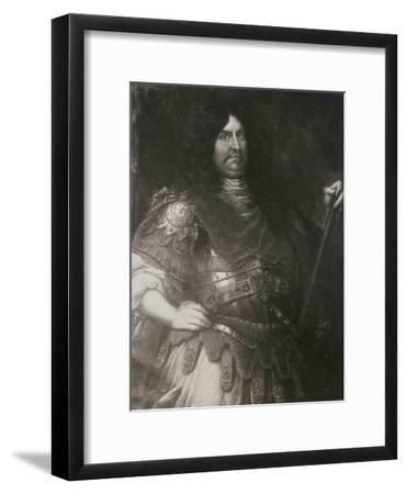 General George Fleetwood in Armour, Late 17th Century--Framed Giclee Print