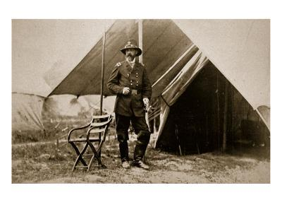 General George G. Meade in Camp, 1861-65-Mathew Brady-Giclee Print