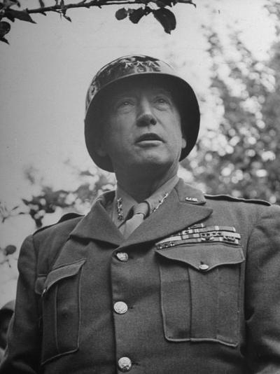 General George S. Patton in Normandy, France-Ralph Morse-Photographic Print