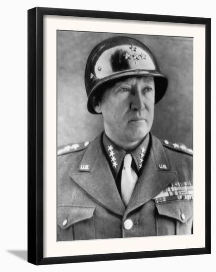 General George S. Patton Jr., U.S. Army General, 1940s--Framed Art Print