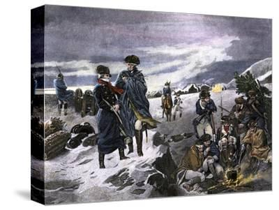 General George Washington and the Marquis de Lafayette at Valley Forge Winter Camp