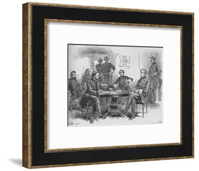 'General Grant Reading The Terms of Surrender', 1895, (1902)-Gordon Frederick Browne-Framed Giclee Print