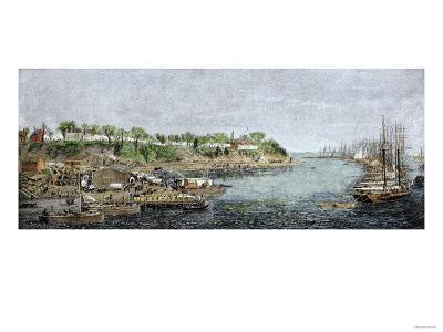 General Grant's Headquarters and Base of Supplies on the James River, c.1864--Giclee Print