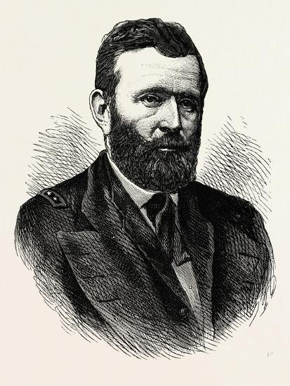 General Grant. Ulysses S. Grant Was the 18th President of the United States Following His Highly Su--Giclee Print