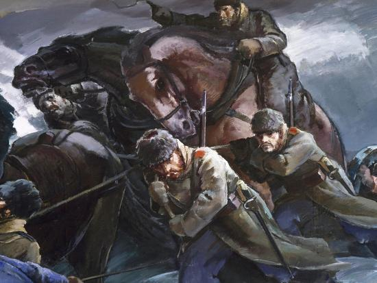 General Gurko Passing Balkans with His Troops, Detail, Russo-Turkish War--Giclee Print