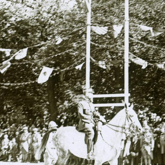 General Henri Gouraud at a victory parade, c1918-Unknown-Photographic Print
