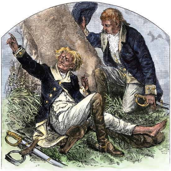 General Herkimer Killed at Oriskany in Leading Militia to Relieve Fort Stanwix, New York, 1777--Giclee Print