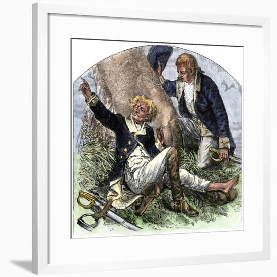 General Herkimer Killed at Oriskany in Leading Militia to Relieve Fort Stanwix, New York, 1777--Framed Giclee Print