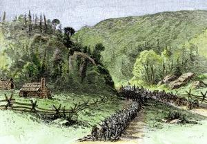 General James Longstreet's March through Thoroughfare Gap at the Second Battle of Bull Run, c.1862