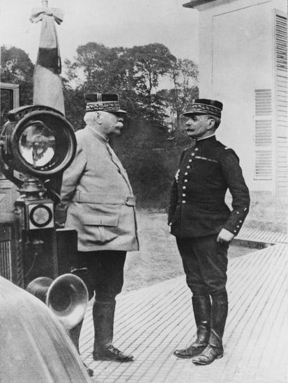 General Joffre and General Foch, 1914--Giclee Print