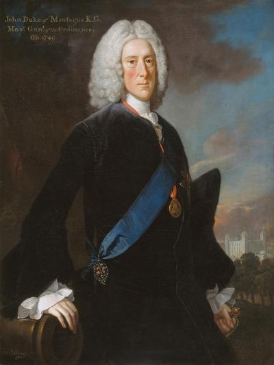 General John, 2nd Duke of Montagu (C.1688-1749) Master General of the Ordnance, C.1740-George Knapton-Giclee Print