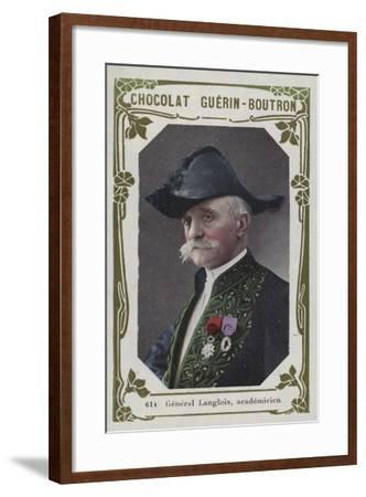 General Langlois, Academicien--Framed Giclee Print