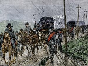 General Lee's Confederate Army Retreating South after the Battle of Gettysburg, c.1863