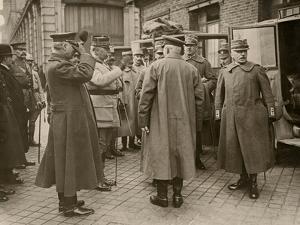 General Luigi Cadorna, Italian CINC, and General Joseph Joffre, French CINC, Calais, Mar 1916